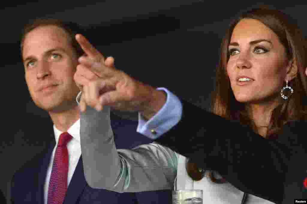 Принц Уильям и его супруга Кэтрин на церемонии открытия Олимпийских игр
