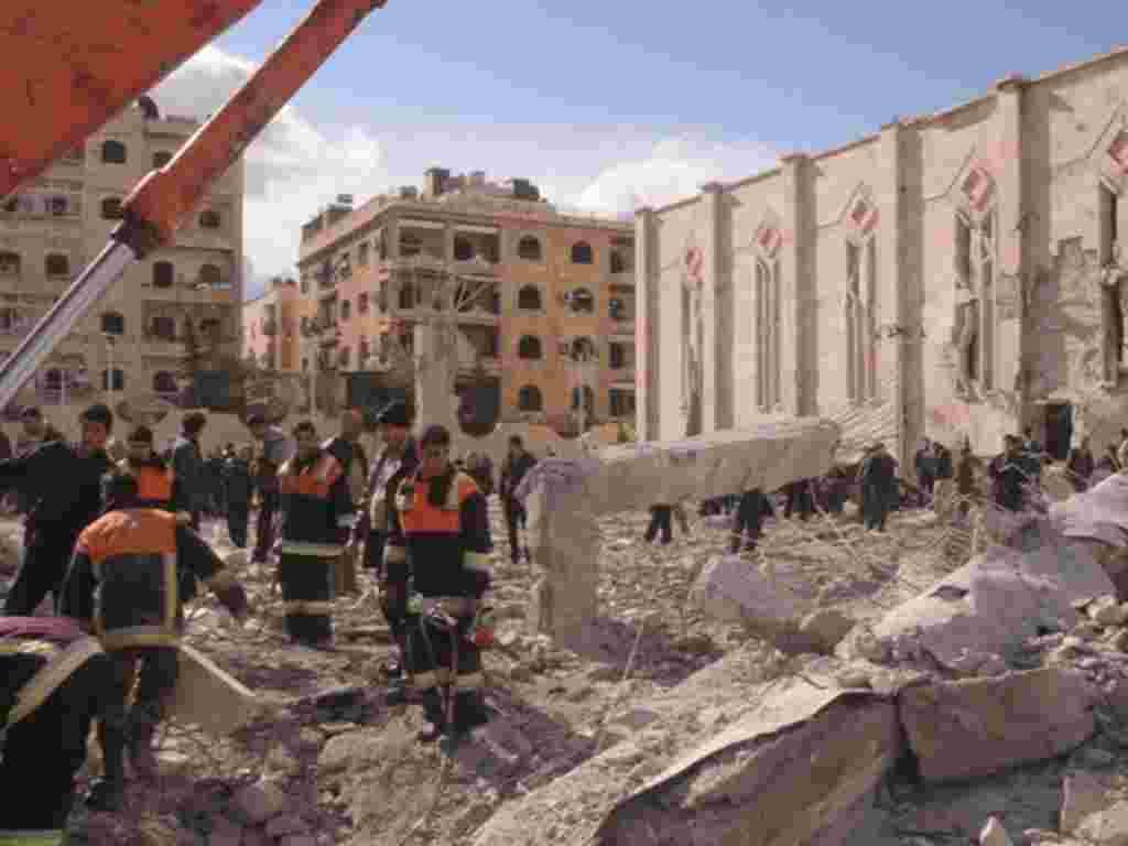 La televisión estatal siria dice que este 10 de febrero al menos 25 personas fueron asesinadas.