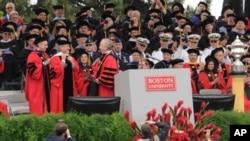 美国波士顿大学2009年的毕业典礼