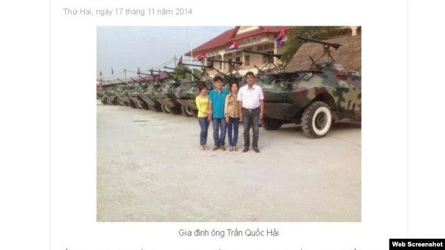 Tin của trang Diễn Đàn Thế Kỷ về ông 'Hai Lúa' Trần Quốc Hải.