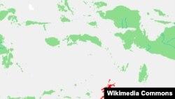 Kepulauan Tanimbar (warna merah), provinsi Maluku. (Wikipedia Commons)