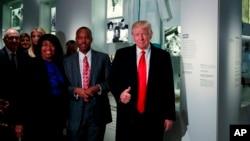 El presidente Donald Trump estuvo en el museo durante el mes de la cultura afroestadounidense.