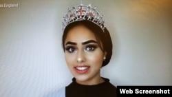 مس انگلینڈ کے مقابلے میں حصہ لینے والی پاکستانی لڑکی سارہ افتخار