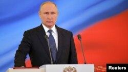 Президент России Владимир Путин. Кремль, Москва. 7 мая 2018 г.