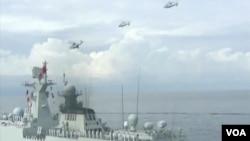 中國海軍到南中國海最南端宣示主權(視頻截圖)