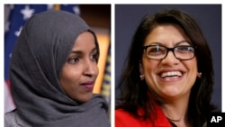 Les députées Ilhan Omar et Rashida Tlaib. (AP Photo / Carolyn Kaster, File)