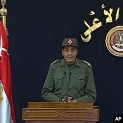 Le maréchal Mohamed Hussein Tantaoui (22 novembre 2011)