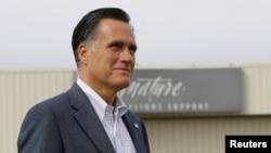 美國共和黨總統候選人羅姆尼9月24日在科羅拉多州
