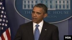 Predsednik Obama tokom današnje konferencije za novinare u Beloj kući