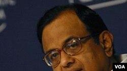 Menteri Dalam Negeri India, P. Chidambaram.