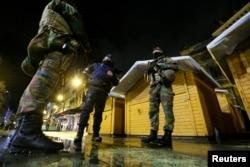 比利时军警在布鲁塞尔采取高度戒备措施防止恐怖袭击