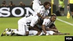 Des joueurs du TP Mazembe, décembre 2012