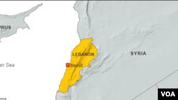 黎巴嫩地图。