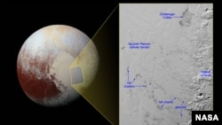Hills of water ice on Pluto 'float' in a sea of frozen nitrogen and move over time like icebergs in Earth's Arctic Ocean—another example of Pluto's fascinating geological activity.