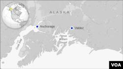 No hubo alerta de tsunami, puesto que la profundidad del epicentro fue de 127 kilómetros. [Mapa de Prince William Sound, Alaska].