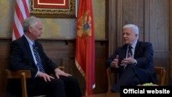 Američki senator Ron Džonson i crnogorski premijer Duško Marković tokom susreta u Podgorici (gov.me)
