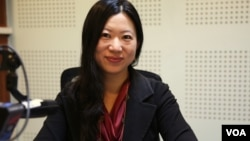 Yong Sarah Zhou, IMF's resident representative in Phnom Penh, spoke with VOA Khmer's Aun Chhengpor and Oum Sonita recently about the reasons for the country's healthy growth, as well as some of the risks on the horizon. (Photo: Aun Chhengpor/VOA Khmer)