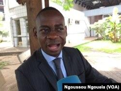Mermans Babounga, secrétaire exécutif de l'Observatoire congolais des droits des consommateurs, à Brazzaville, au Congo, le 16 mai 2017. (VOA/Ngoussou Ngouela)
