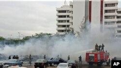 Scène d'un attentat revendiqué par Boko Haram à Abuja, le 16 juin, 2011