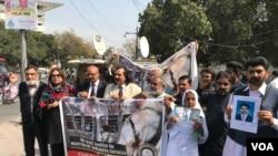 سمجھوتہ ایکپریس کیس کے فیصلے کے خلاف احتجاج