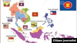ASEAN အသိုက္အဝန္းျပ ေျမပံု။