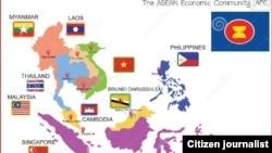 东盟国家地区图