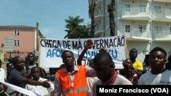 Manifestação contra vice-governador, Uíge