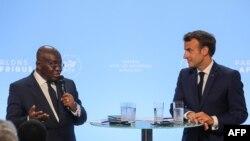 Nana Akufo-Addo et Emmanuel Macron à Paris en France le 11 juillet 2019.
