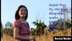 Nhà hoạt động Huỳnh Thục Vy. (Facebook Nguyễn Văn Đài).