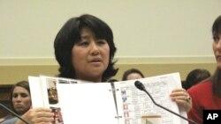 柴玲在众议院呼吁中国政府正视拐卖