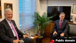 ABD'nin Ankara Büyükelçisi David Satterfield ve TBMM Dış İşleri Komisyonu Başkanı Volkan Bozkır