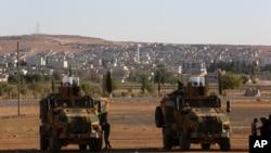 نیروهای ارتش ترکیه مستقر در مرز مشترک با سوریه - آرشیو
