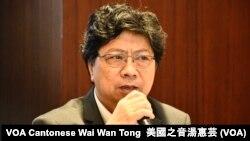 香港記者協會主席楊健興 (美國之音湯惠芸攝)