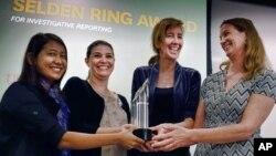 خبرنگاران خبرگزاری آسوشیتدپرس که برنده جایزه امسال پولیتزر شدند.