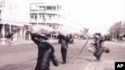 The return home of survivors after the fall of the Khmer Rouge in January 1979.