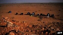 Un campement à la frontière du Soudan et du Tchad, le 12 mars 2009.
