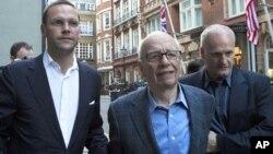 Džejms i Rupert Murdok u Londonu
