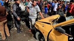 Mesto napada u Sadr sitiju, u Bagdadu