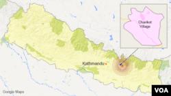 尼泊尔查理科特村位置