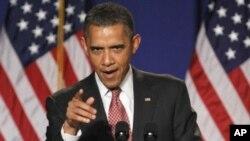 奥巴马总统9月16日在维吉尼亚州发表演说(资料照)