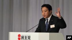 野田佳彦8月29日在被选举为日本民主党新领导人后发表简短讲话