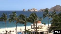 Kota peristirahatan Los Cabos di pantai Pasifik, Meksiko menjadi tuan rumah KTT G-20 (18/6).