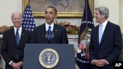 Джо Байден, Барак Обама и Джон Керри