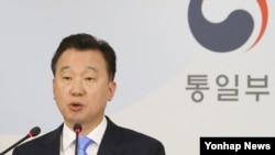 정준희 한국 통일부 대변인 (자료사진)