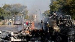 Vaga de violência destrói dezenas de autocarros em Pretória