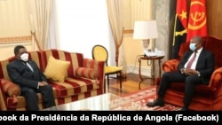 Isaías Samakuva, antigo presidente da UNITA, e João Lourenço, Presidente de Angola, 26 outubro 2020