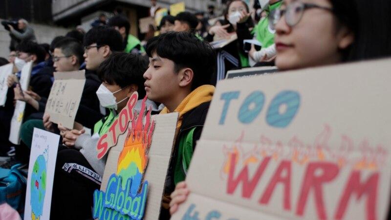موسمی تبدیلی کے خلاف دنیا بھر کے طلبہ سرگرم