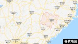 福建省龙岩市 (谷歌地图)