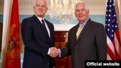 Crnogorski premijer Duško Marković i američki državni sekretar Reks Tilerson, 8.maj 2017