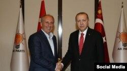 Muharrem İnce ve Recep Tayyip Erdoğan